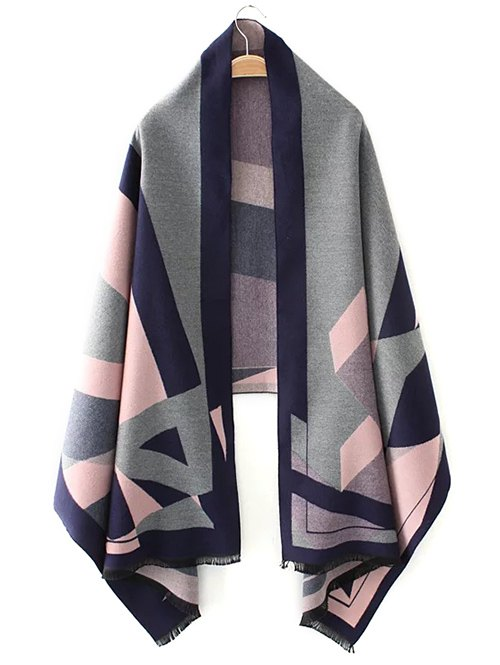 Geometric Knitted Poncho