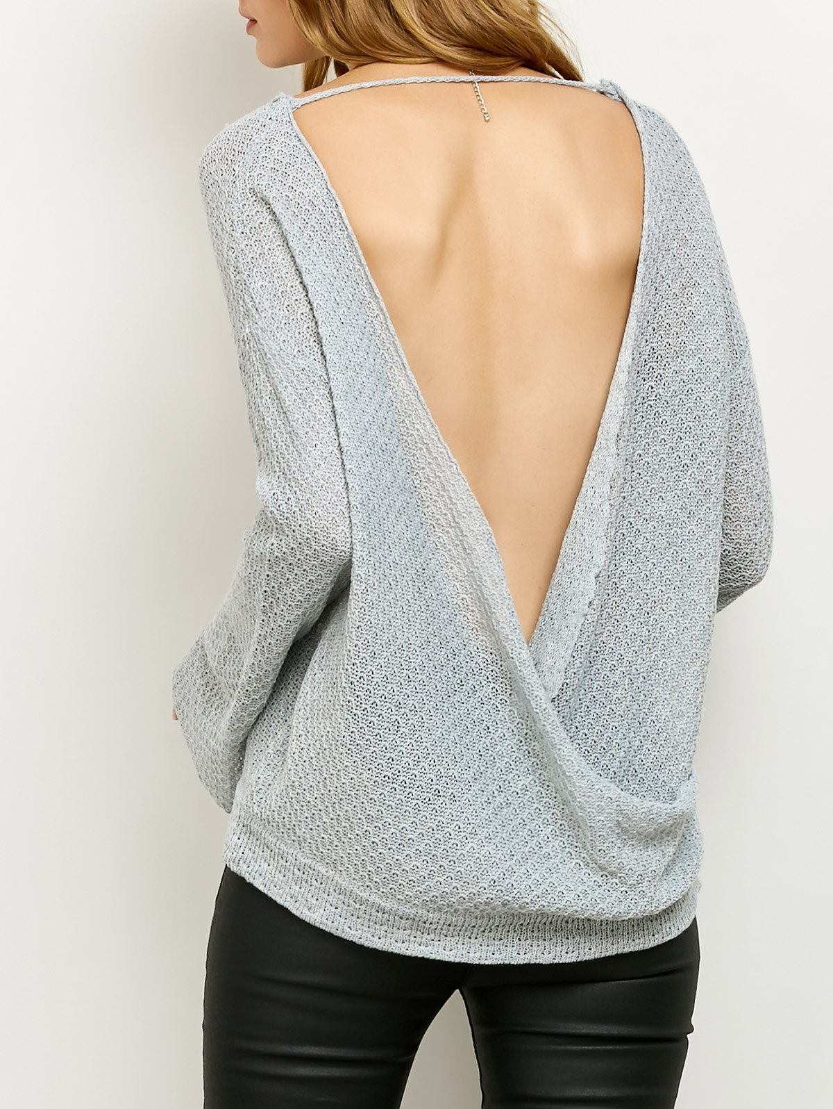 Cut Out Wrap Knitwear 200897402