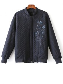 Herringbone Quilted Embroidered Jacket