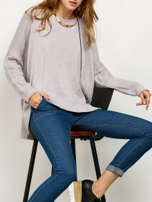Drop Shoulder High-Low Sweater