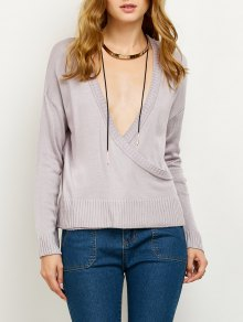 V Neck Surplice Jumper