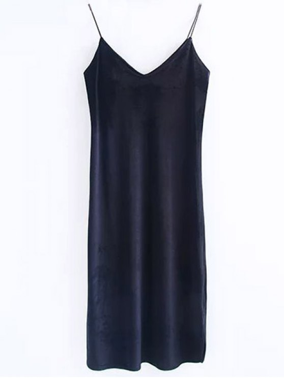 best Cami Velvet Midi Dress - BLACK S