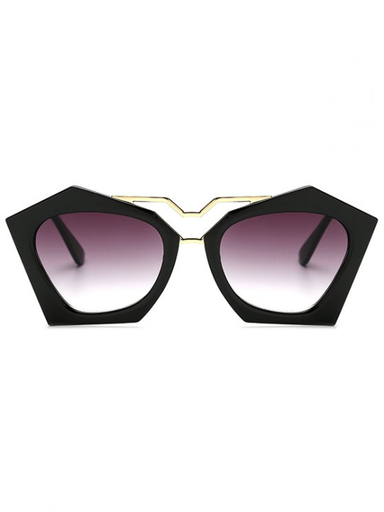 Hollow Out Leg Irregular Sunglasses - BLACK  Mobile