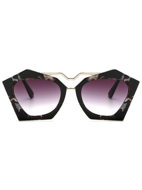 Flecky Irregular Frame Sunglasses -   Mobile