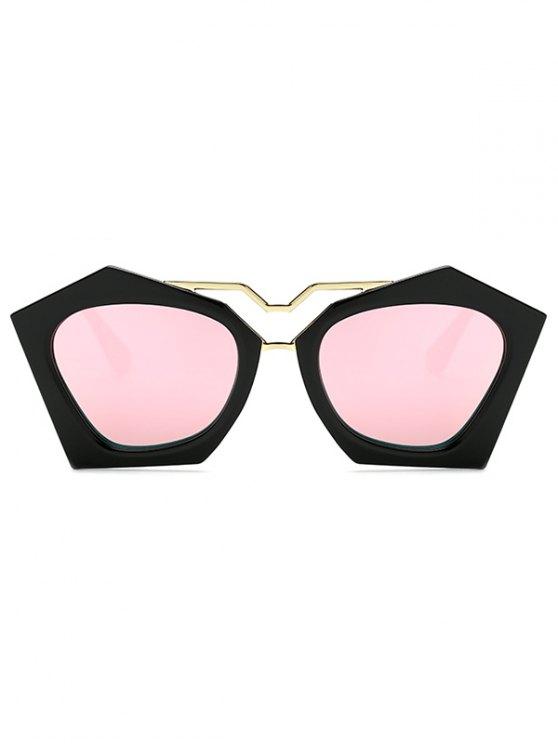 Irregular Mirrored Sunglasses - PINK  Mobile