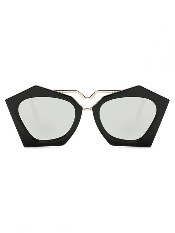 Irregular Mirrored Sunglasses - SILVER  Mobile