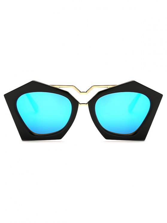 Irregular Mirrored Sunglasses - ICE BLUE  Mobile