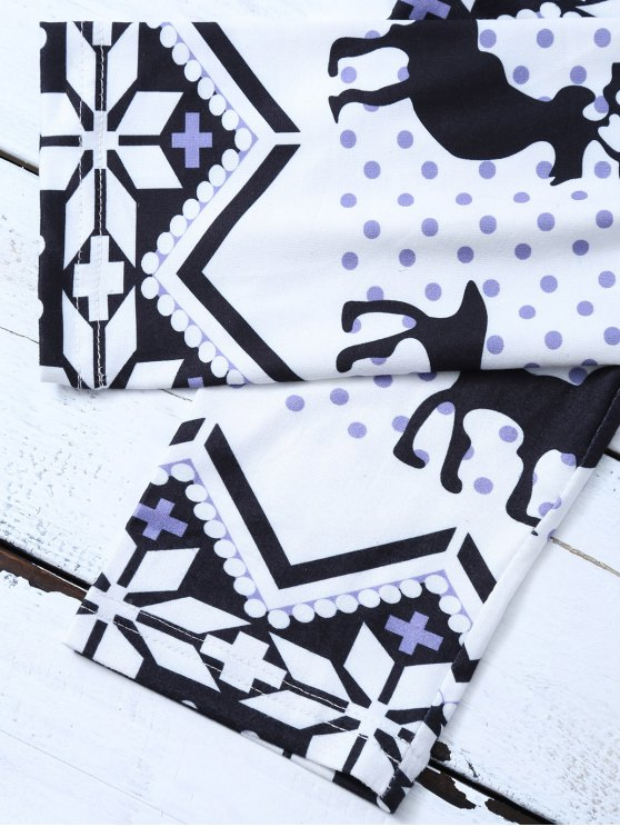 Snowflake Reindeer Leggings - COLORMIX M Mobile