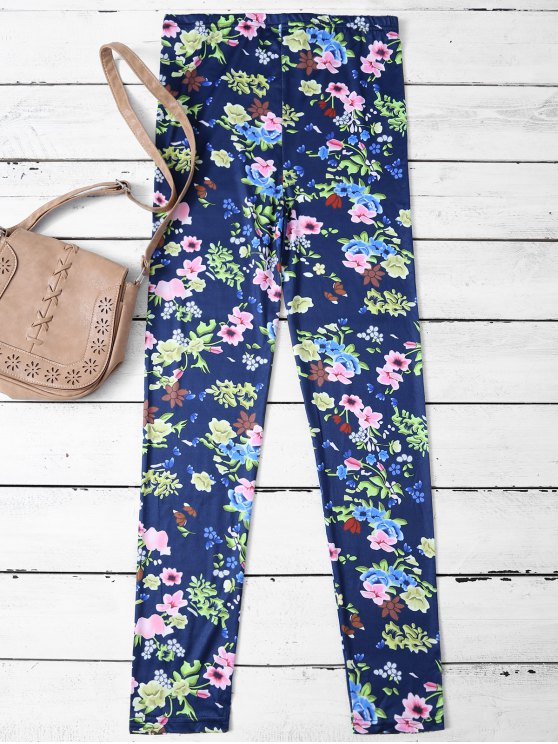 Tiny Floral Pattern Leggings - FLORAL M Mobile