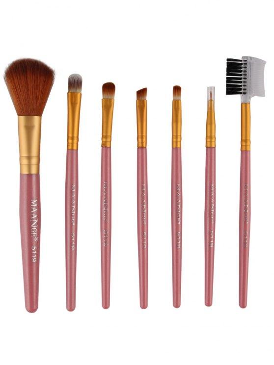 7 Pcs Makeup Brushes Set -   Mobile