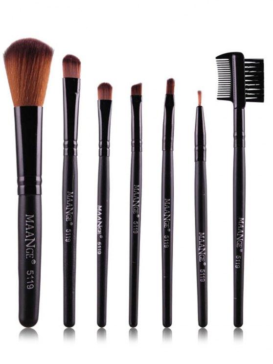 Fiber Makeup Brushes Set - BLACK  Mobile