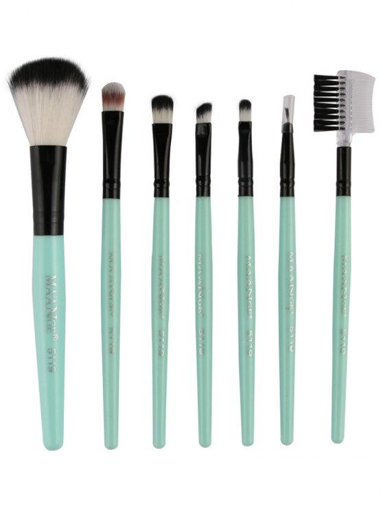 Set pinceaux de maquillage fibre - Vert