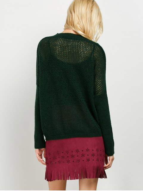 outfits Cable Knit Batwing Sleeve Jumper - GREEN ONE SIZE Mobile
