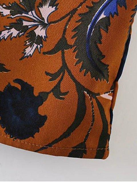 shop Floral Long Sleeve Drop Waist Dress - GINGER M Mobile