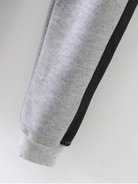 chic Jogger Drawstring Pants - GRAY M Mobile