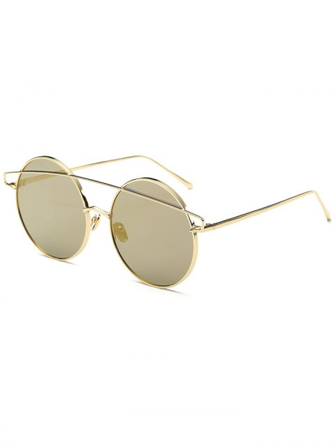 latest Metallic Crossbar Round Mirrored Sunglasses -   Mobile