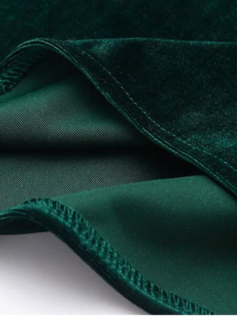 best Cami Velvet Midi Dress - BLACK S Mobile