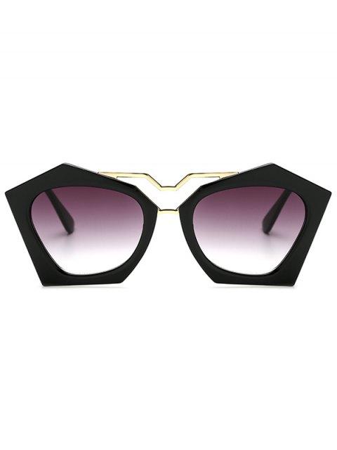 unique Hollow Out Leg Irregular Sunglasses - BLACK  Mobile