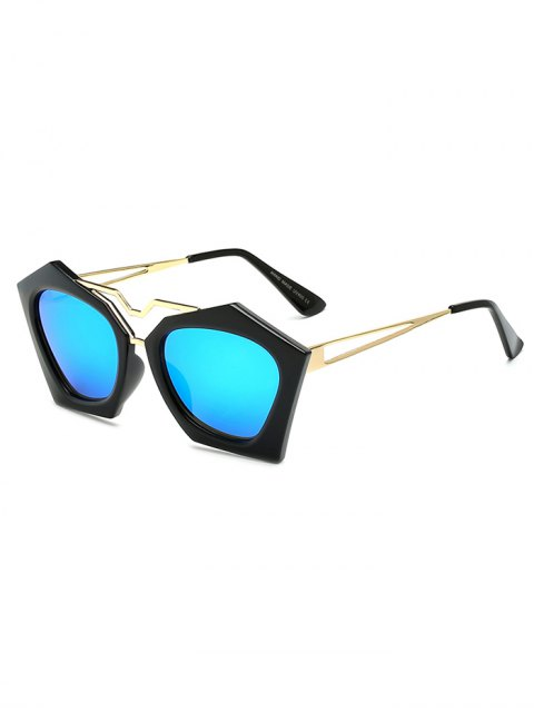 women Irregular Mirrored Sunglasses - ICE BLUE  Mobile