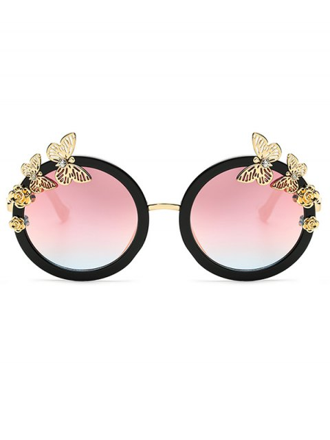 new Butterfly Oval Mirrored Sunglasses - PINK  Mobile