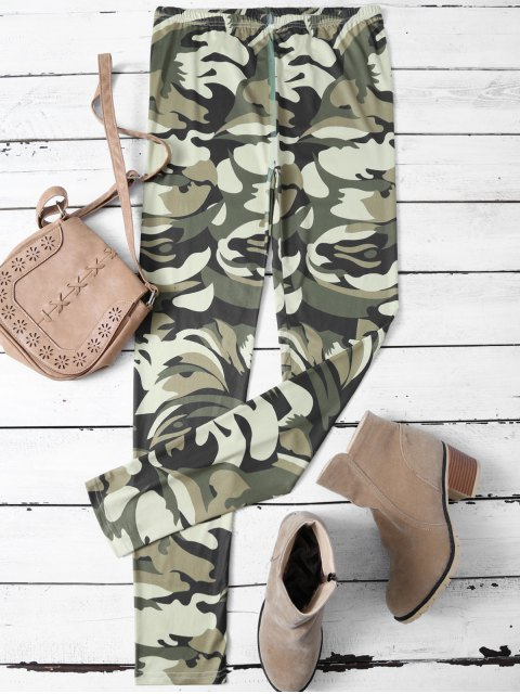 online Camouflage Skinny Leggings - CAMOUFLAGE COLOR L Mobile