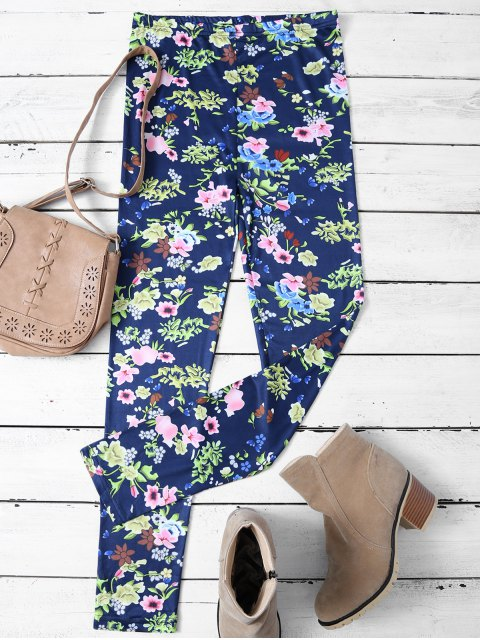 fancy Tiny Floral Pattern Leggings - FLORAL XL Mobile