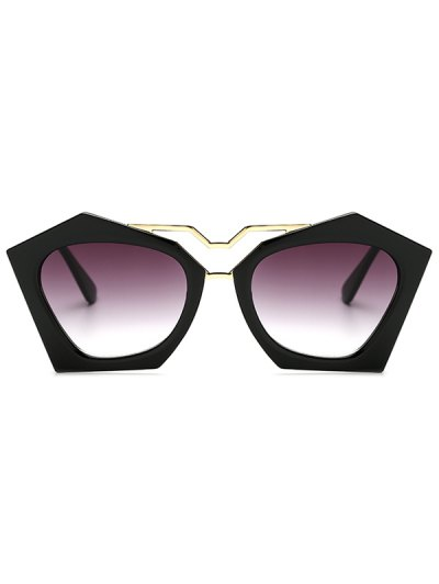 Hollow Out Leg Irregular Sunglasses - BLACK  Mobile