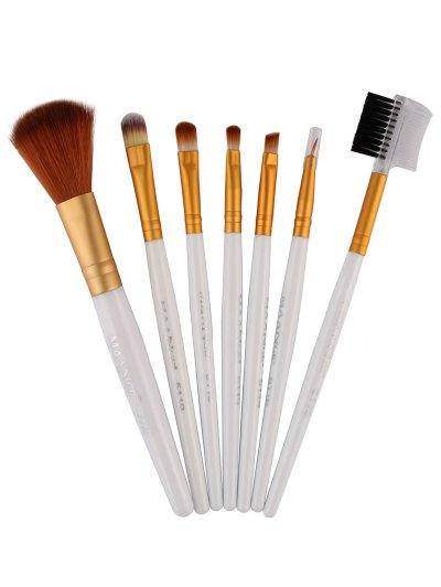 7 Pcs Makeup Brushes Set - WHITE  Mobile