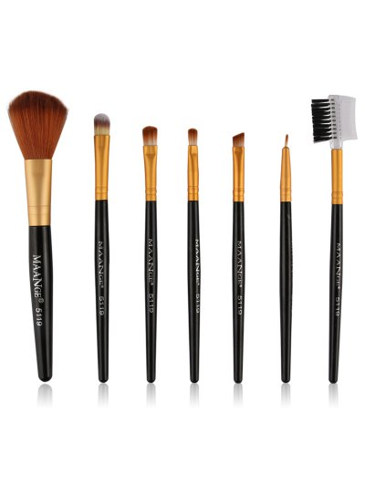 7 Pcs Makeup Brushes Set - BLACK  Mobile