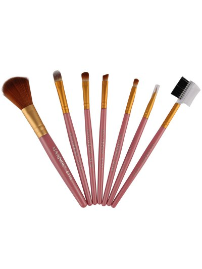 7 Pcs Makeup Brushes Set - PINK  Mobile