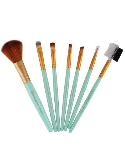 7 Pcs Makeup Brushes Set - GREEN  Mobile
