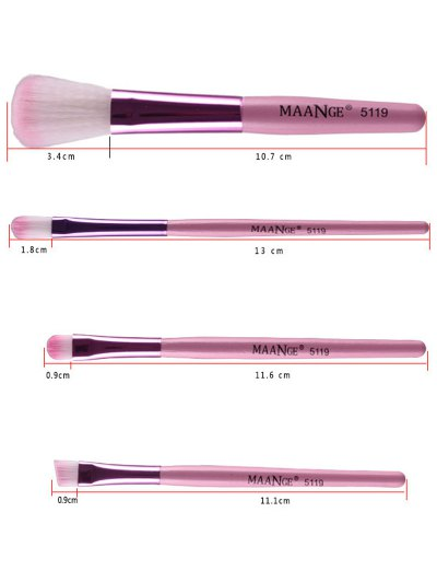 Fiber Makeup Brushes Set - PINK  Mobile
