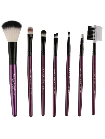 Fiber Makeup Brushes Set - PURPLE  Mobile
