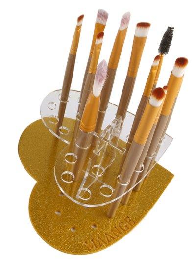 Heart Shape Brush Stand - GOLDEN  Mobile