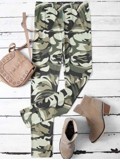 Camouflage Skinny Leggings - CAMOUFLAGE COLOR M Mobile