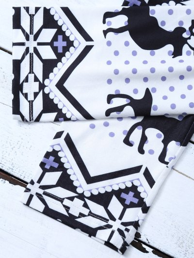 Snowflake Reindeer Leggings - COLORMIX XL Mobile