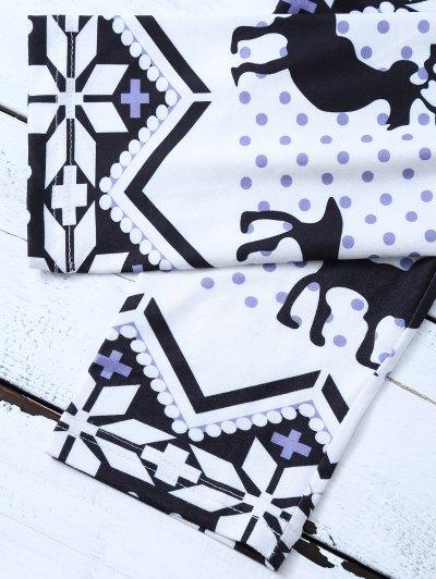 Snowflake Reindeer Leggings - COLORMIX M Mobile