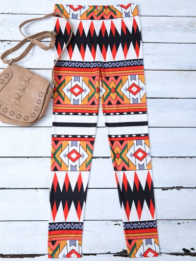 Argyle Pattern Leggings - COLORMIX XL Mobile