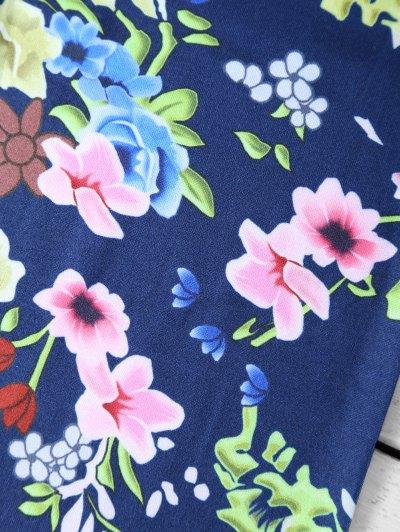 Tiny Floral Pattern Leggings - FLORAL XL Mobile