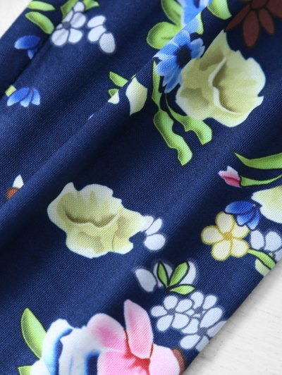 Tiny Floral Pattern Leggings - FLORAL M Mobile