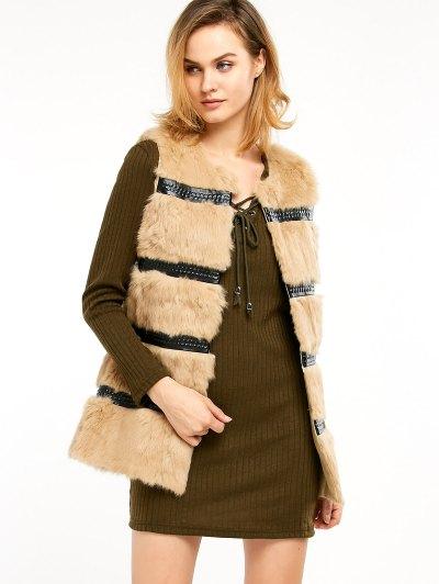 Rabbit Hair Waistcoat - CAMEL ONE SIZE Mobile