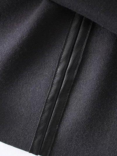 PU Leather Cami Mini Dress - BLACK L Mobile