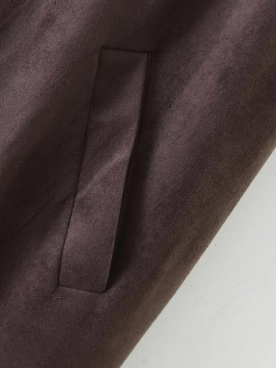 Longline Side Slit Suede Waistcoat - BLACK S Mobile