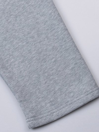 Pullover High Low Hoodie - LIGHT GRAY L Mobile