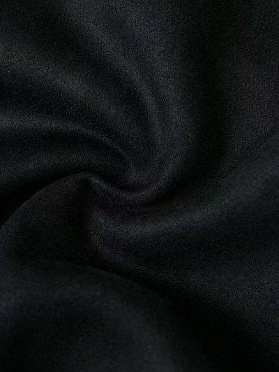 Fake Suede Mini Skirt - BLACK M Mobile