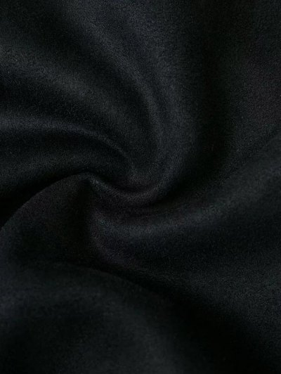 Fake Suede Mini Skirt - BLACK S Mobile