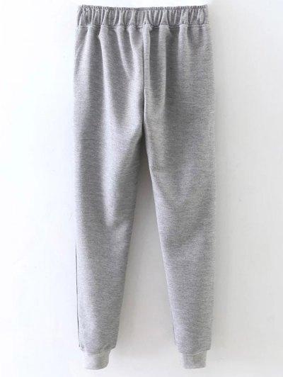 Jogger Drawstring Pants - GRAY L Mobile