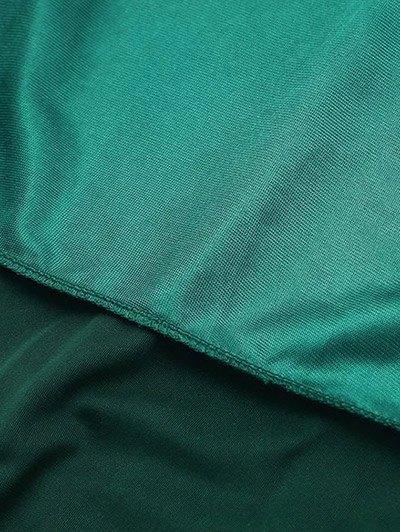 Cami Velvet Midi Dress - BLACKISH GREEN S Mobile