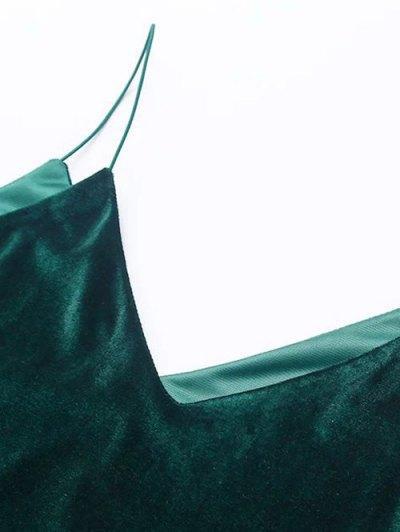 Cami Velvet Midi Dress - PEACOCK BLUE S Mobile