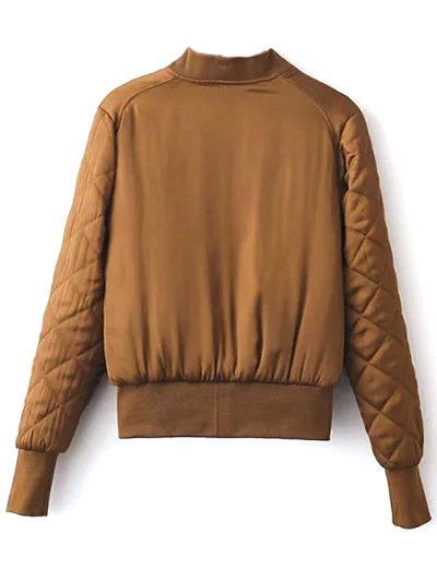Stand Neck Quilted Jacket - GINGER M Mobile